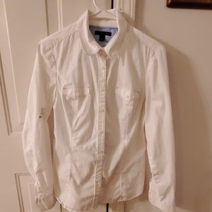 All white button up
